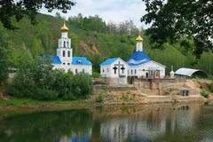 Chapel near to  Tsar barrow, Samara Stock Photo