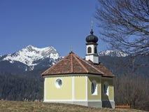 28/5000Chapel nel paese di Werdenfels Fotografie Stock Libere da Diritti
