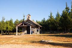 Chapel next to the Iron cross along the way of St. James Royalty Free Stock Photography