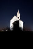 Chapel nighttime scenery Royalty Free Stock Photography