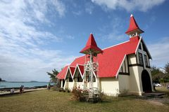 Chapel Notre Dame Auxiliatrice in Mauritius Stock Photo