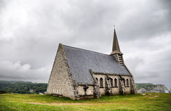 Chapel of Notre-Dame de la Garde, Etretat Royalty Free Stock Images
