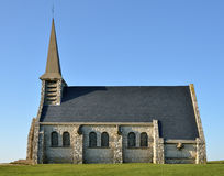 Chapel Notre-Dame-de-la-Garde of Etretat in France Stock Photography