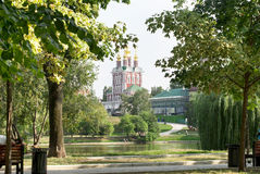 Chapel of the Novodevichy Convent. View of the Chapel of the Novodevichy Convent closeup Royalty Free Stock Photography