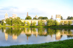 Chapel of the Novodevichy Convent. View of the Chapel of the Novodevichy Convent and pond with birds Stock Image