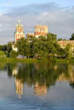 Chapel of the Novodevichy Convent. View of the Chapel of the Novodevichy Convent and pond with birds Stock Images