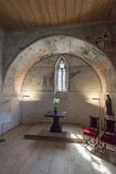 The chapel of Oberhofen Castle, Switzerland Royalty Free Stock Photos