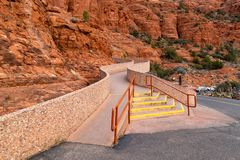Free Chapel Of The Holy Cross Sedona AZ Stairway Royalty Free Stock Images - 140376409