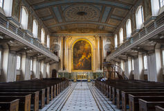 Chapel in the Old Royal Naval College in Greenwich Royalty Free Stock Photo