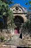 Chapel and olive tree in the Alpilles (Provence, France) Royalty Free Stock Photo