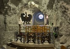 Chapel of Our Lady of Czestochowa in Cave Church in Gellert Hill Cave, Budapest, Hungary Stock Photo