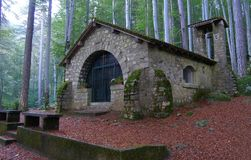 Chapel Our Lady in the forest, Vizzavona, Corsica Royalty Free Stock Photo