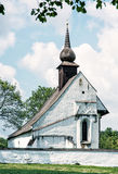 Chapel of Our Mother God near Veveri castle, Bohemia, blue filte Royalty Free Stock Image