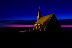 Chapel over Etretat stock photography
