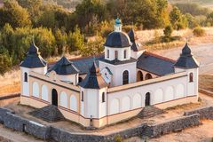 Chapel over Susice - aerial photography Royalty Free Stock Image