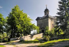 Chapel of Panna Maria Snezna - Hvezda in Broumovske steny mountains in Czech republic Stock Images