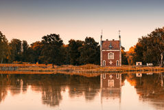 Chapel in the park. Old chapel in the autumn park Royalty Free Stock Image