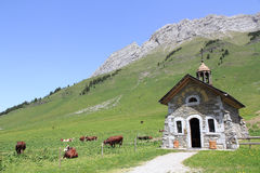 Chapel of the pass of Aravis Royalty Free Stock Photo