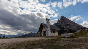 Chapel at Passo Falzarego Royalty Free Stock Photo