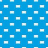 Chapel pattern seamless blue Stock Images