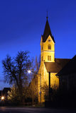 Chapel of Paurach at Night. A typical styrian chapel or small church on the countryside Royalty Free Stock Photo