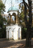 Chapel on Petrin hill. Chapel between trees on hill Petrin in Prague (Czech Republic Stock Photography