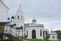 Chapel Pillar  and Nikitsky cathedral in Nikitsky Monastery Royalty Free Stock Images