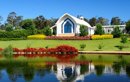 Chapel on the pond Royalty Free Stock Photography