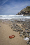 Chapel porth beach Royalty Free Stock Images