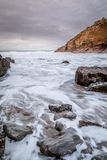 Chapel porth beach in cornwall england uk Royalty Free Stock Image
