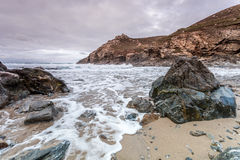 Chapel porth beach in cornwall england uk Stock Photo
