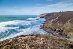 Chapel porth in cornwall england uk kernow Royalty Free Stock Photography