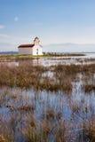 Chapel at Prokopos lake Royalty Free Stock Image