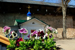 Chapel in Pskov-Caves Holy Dormition Monastery Royalty Free Stock Images