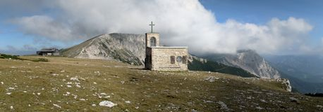 Chapel Raxkircherl in Rax Alps Stock Images