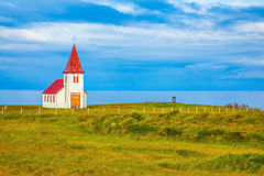 Chapel with red roof Stock Photography