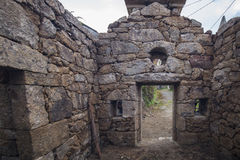 Chapel in religious stone in restoration, Portugal. Royalty Free Stock Photography
