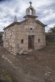 Chapel in religious stone in restoration, Portugal. Stock Photography