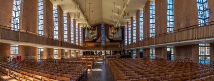 Western Promise of eternal life. The Chapel of the Resurrection on the capus of Valparaiso University, Indiana.  View to the West Royalty Free Stock Image