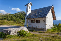 Chapel on the road in the mountains Stock Photography