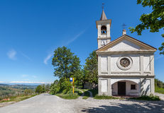 Chapel on the roadside in Piedmont, Italy. Royalty Free Stock Images