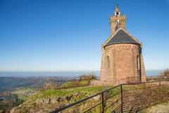 Chapel on the Rock of Dabo, France Stock Image