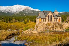 Chapel on the Rock near Estes Park in Colorado Stock Photos
