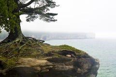 Chapel Rock. At Pictured Rocks National Lakeshore near Munising, MI Royalty Free Stock Image