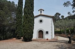 Chapel of the Roser-Arenys de Munt Stock Photo