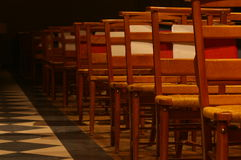 Chapel rows. In a school chapel royalty free stock photo