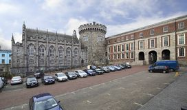Chapel Royal and Record Tower in Dublin Castle. Dublin, Ireland - August 20, 2014: Chapel Royal and Record Tower in Dublin Castle Royalty Free Stock Photo