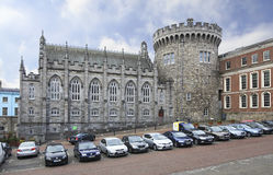 Chapel Royal and Record Tower in Dublin Castle. Dublin, Ireland - August 20, 2014: Chapel Royal and Record Tower in Dublin Castle Stock Photography