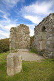 Chapel Ruins. Ruins of St Patricks Chapel at Heysham, Lancashire Royalty Free Stock Images