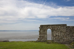 Chapel Ruins. Ruins of St Patricks Chapel at Heysham, Lancashire Stock Photography